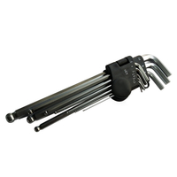 9Pcs Long Arm Hex Key with Ball End